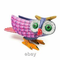OWL Oaxacan Alebrije Wood Carving Mexican Folk Art Animal Sculpture Painting