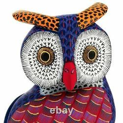 OWL Oaxacan Alebrije Wood Carving Mexican Folk Art Sculpture Painting