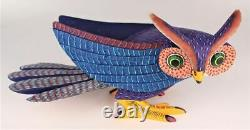 Oaxacan Wood Carving Damian Morales Owl Bird Oaxaca Mexican Folk Art Alebrije