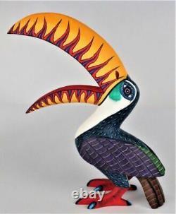 Oaxacan Wood Carving Damian Morales Toucan Bird Oaxaca Mexican Folk Art Alebrije