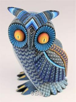 Oaxacan Wood Carving Julia Fuentes Horned Owl Oaxaca Mexican Folk Art Alebrije