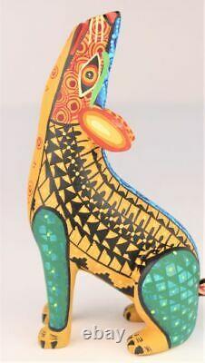 Oaxacan Wood Carving Juventino Melchor Coyote Oaxaca Mexico Folk Art Alebrije