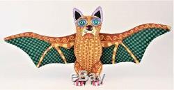 Oaxacan Wood Carving Lauro Ramirez Bat Oaxaca Mexican Folk Art Alebrije Mexico
