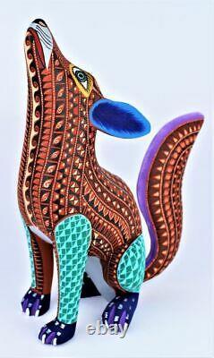 Oaxacan Wood Carving Lauro Ramirez Coyote Oaxaca Mexican Folk Art Alebrije