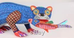 Oaxacan Wood Carving Lauro Ramirez Otter Fish Oaxaca Mexican Folk Art Alebrije