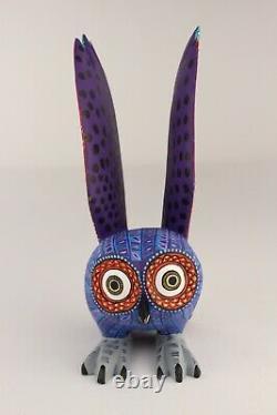 Oaxacan Wood Carving Lauro Ramirez Owl Bird Oaxaca Mexican Folk Art Alebrije