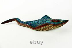 Oaxacan Wood Carving, MANTA RAY Alebrije, Mexican Folk Art, Oaxaca Mexico