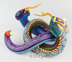 Oaxacan Wood Carving Mario Castellanos Snakes Oaxaca Mexican Folk Art Alebrije