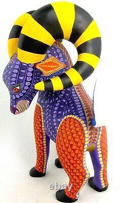 Oaxacan Wood Carving Ram Lauro Ramirez Mexican Folk Art Alebrije