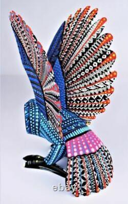 Oaxacan Wood Carving Reina Ramirez Large Owl Oaxaca Mexican Folk Art Alebrije