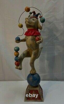 Original American Folk Art Christopher Blake Juggling Dog