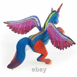 PEGASUS HORSE Oaxacan Alebrije Wood Carving Fine Mexican Folk Art Sculpture