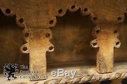 Primitive Carved Oak Hanging Shelf Unit Cupboard Secret Stash Folk Art Indonesia