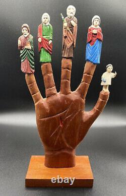Puerto Rico Art Carved Wood La Mano Poderosa Tomas Collazo 1998 Santos Tallados