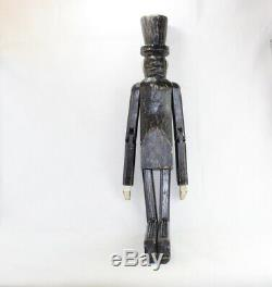 Rare Big Wooden Wood Jointed Abraham Lincoln Folk Art Collectible Carved Figure