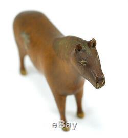 Rare Mid 1800s Primitive / Folk Art Carved Wood Horse Children's Toy Americana