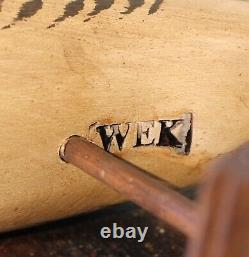 Rare Wek William E Kirkpatrick Folk Art Carved Wood Puffin Shorebird Decoy
