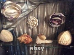 Seashell Folk Art Diorama, Very Large