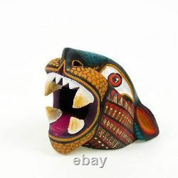 Small Jaguar Head Oaxacan Alebrije Wood Carving