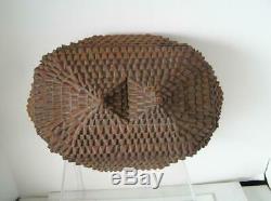 Stunning! Tramp ART Ornate Wood carved Box Folk ART Americana Primitive ca1900