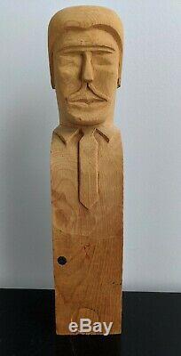 Sulton Rogers (1922-2003) Mississippi Outsider Folk Artist Self Portrait & Haint