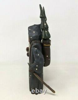 VTG 1998 Midwest Cannon Falls Greg Guedel Folk Art Carved Wood Santa Figure BR20