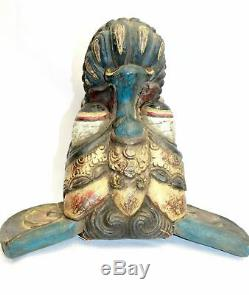 Vintage Balinese Mask Barong Macan Hand Carved wood Bali FOLK ART Indonesian