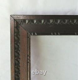 Vintage Fits 9 x 12 Tramp Art Country Primitive Folk Art Carved Wood Frame