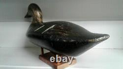 Vintage Hand Carved Wood Folk Art Primitive Duck Decoy