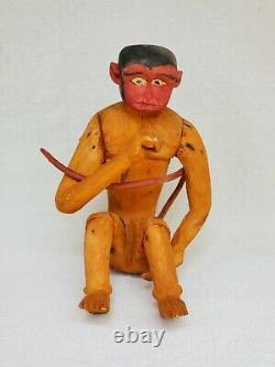 Vintage Mexican Folk Art ALEBRIJE Nahual Monkey wood carving Mexico Oaxaca