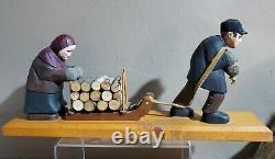 Vintage Primitive Folk Art Wood Carving