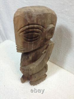 Vtg Hand Carved Hawaiian Wood Fertility Penis Tiki God Folk Art Figurine Statue
