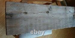 Vtg Hand Carved Wood Tiki Totem Panel Folk Art 36×11 Primitive Patina Witco