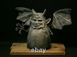 Whimsical Gargoyle Wood Carving, Chainsaw Carving, Wood Art, Folk Art, SHRUM