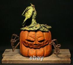 Whimsical Rotten Pumpkin Wood Carving, Chainsaw Carving, Wood Art Folk Art SHRUM