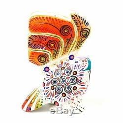 White Owl Oaxacan Alebrije Wood Carving Mexican Folk Art Sculpture