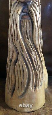 20 Cypress Knee Wood Spirit Gnome Old Man Main Sculptée Par Nc Artiste J. D. Price