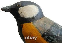 Aafa Début Des Années 1900 Folk Art Country Primitive Americana Bois Sculpté À La Main Oiseau
