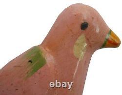 Aafa Small 1900s Folk Art Country Primitive Wood Hand Carved Bird