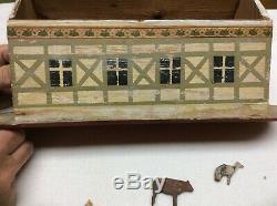Anciennes Folk Art Arche De Noé Jouet Noé En Bois Sculpté À La Main Animaux