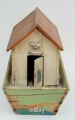 Antique 19c. Folk Art En Bois Sculpté Toy L'arche De Noé Toy Avec 19 Chiffres