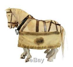 Antique 19thc Horse Folk Art Aafa Sculpté Bois / Primitive / Pennsylvanie / Jouet À Tirer