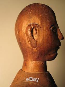 Antique American Folk Art Artiste Mannequin Nh Bois Peg Tour Du 18eme Siècle Nh Man