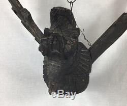 Antique Art Populaire En Bois Sculpté Aigle Navires Fronton Figure De Proue