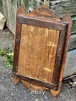 Antique Art Tramp Cadre Avec Miroir En Couches Sculpté À La Main D'art Populaire En Bois