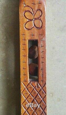 Antique Folk Art Carved Whimsy Canne