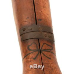 Antique Folk Art Lady Legs Boot Jack C. 1890. Forme-inventif Sculpté À La Main Aafa
