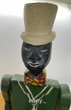Antique Limberjack Doll Black Americana Jig Doll Aafa Folk Art Toy Carved Wood