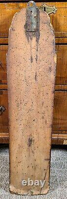 Antique Mangle Board Dala Carved Horse 19th Century Swedish Danish Folk Art 1800