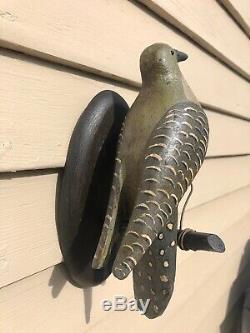 Antique Pennsylvanie Sculpté Folk Art Oiseau Du Nord Decoy Flicker